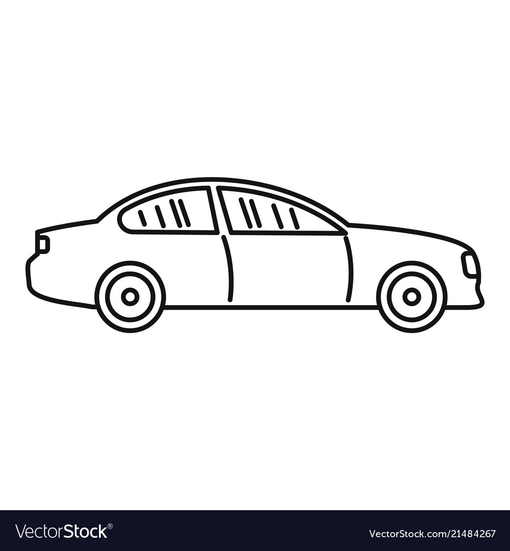 Gas Car Icon Outline Style Royalty Free Vector Image