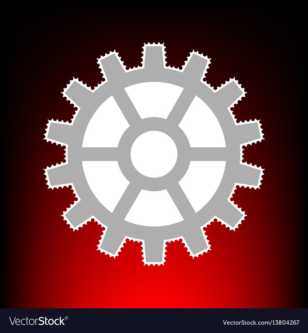 Gear style on red