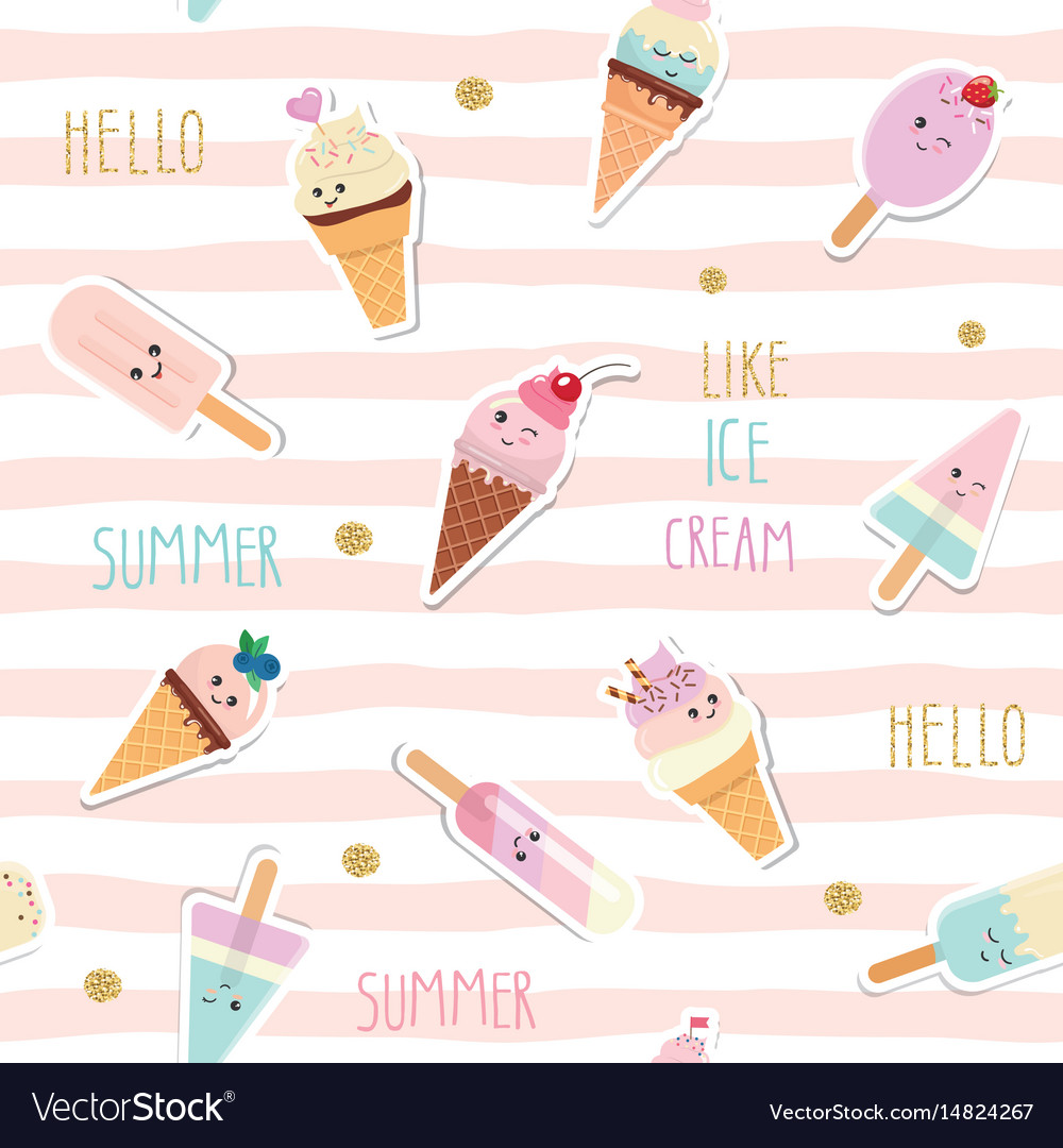 Summer striped seamless pattern background with