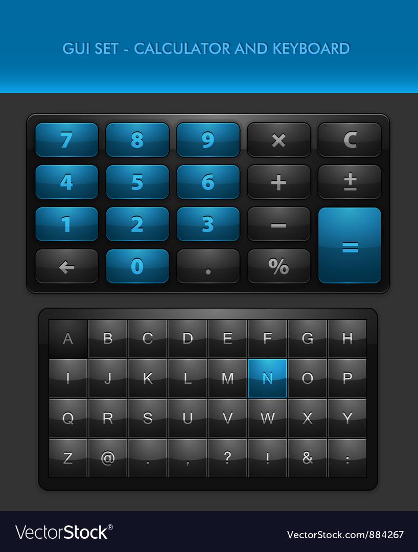 User Interface Elements - Calculator and Ke