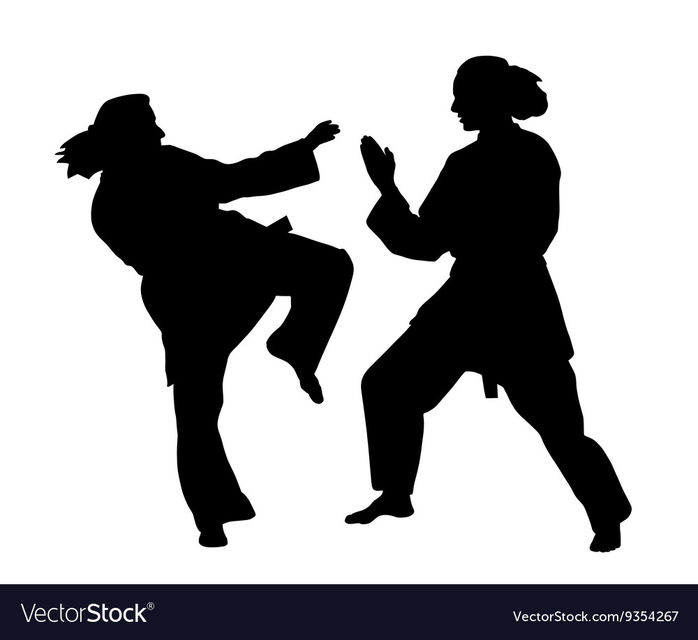 women karate fight royalty free vector image vectorstock