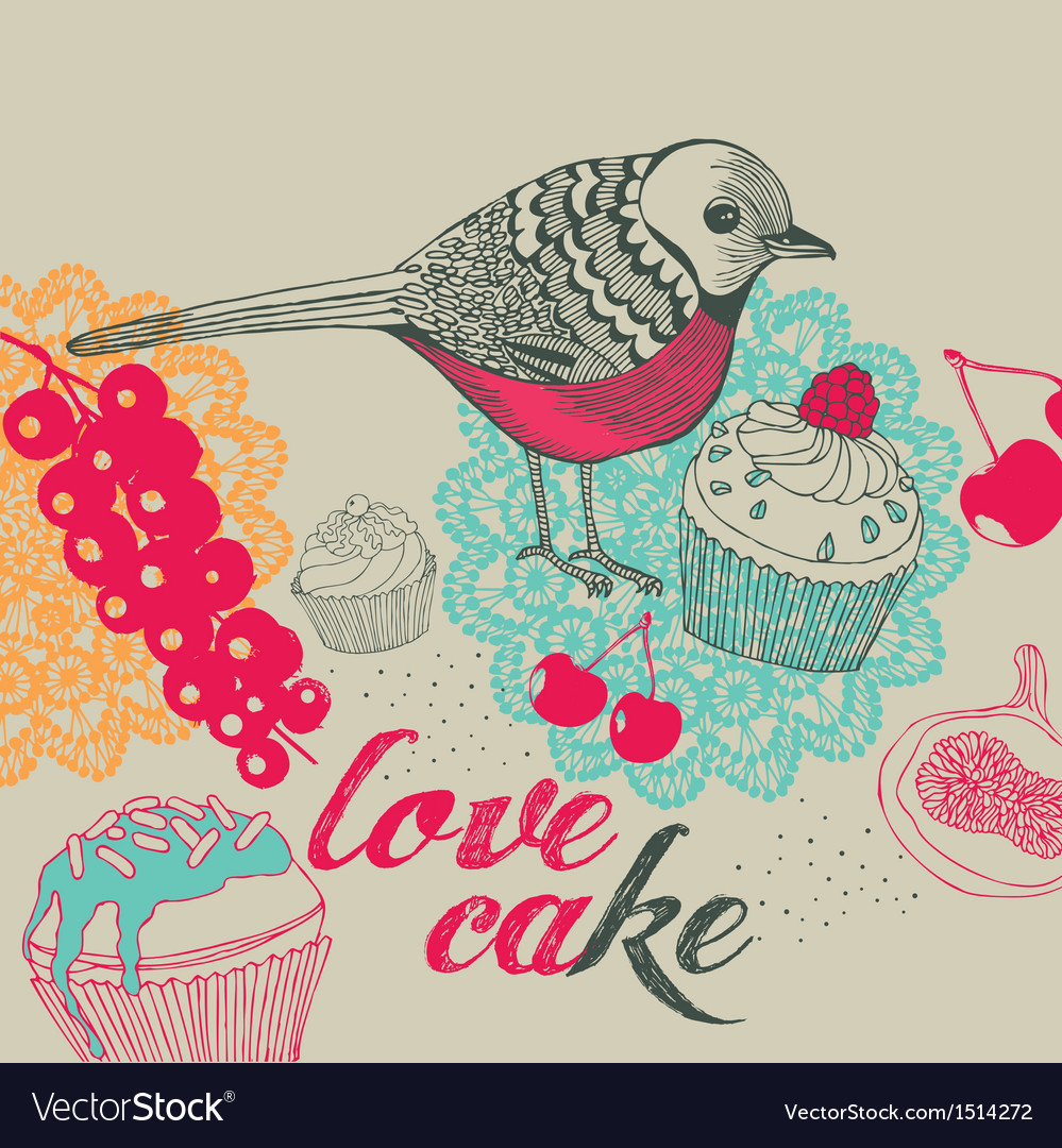 Bird and cakes
