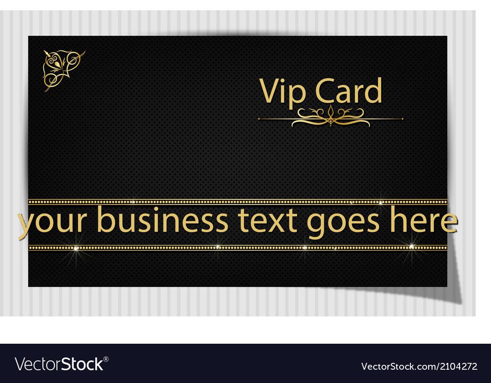 Black creative vip card