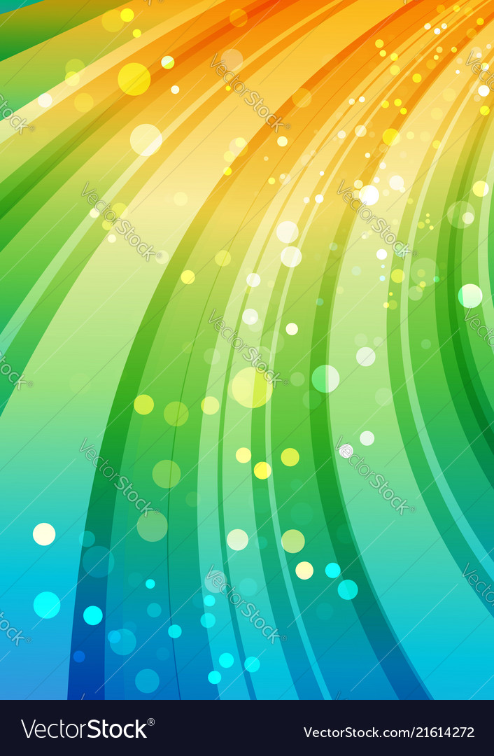 Colorful background curve multicolored element