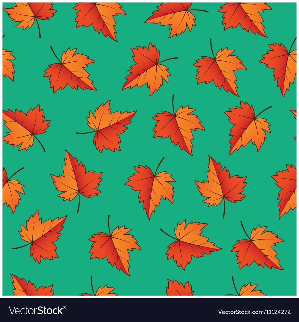- Fall Leaves Seamless Pattern Royalty Free Vector Image