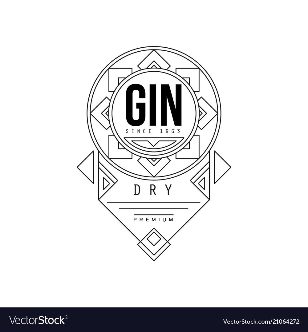 Gin vintage label design alcohol industry