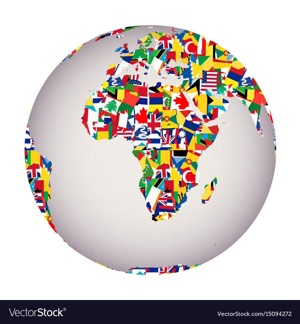 Globalization concept with earth globe and all