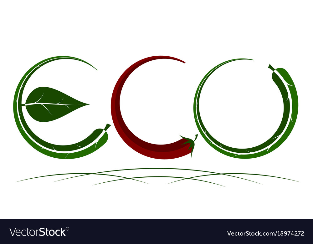 Logo on the theme of ecology energy saving