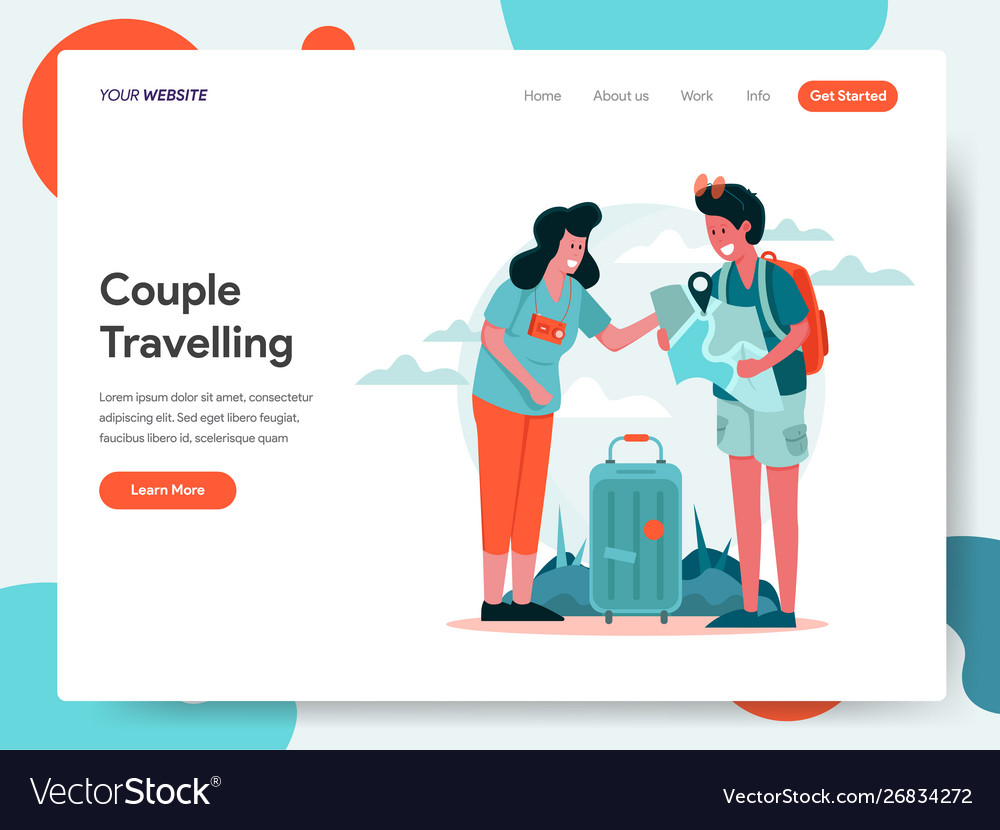 Travelling couple concept