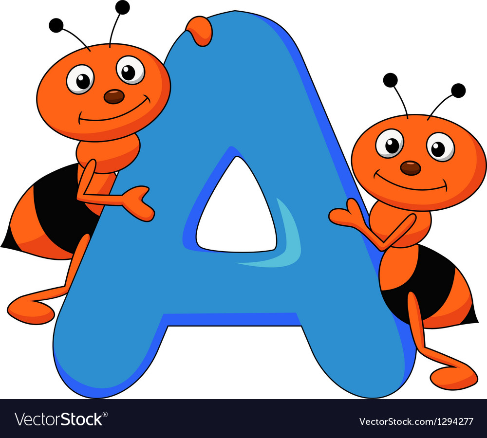 Alphabet a with ant cartoon royalty free vector image alphabet a with ant cartoon vector image thecheapjerseys Gallery