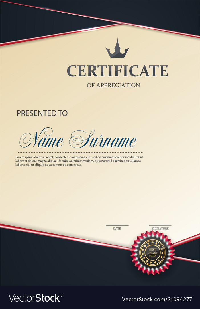 Certificate of appreciation template trend style