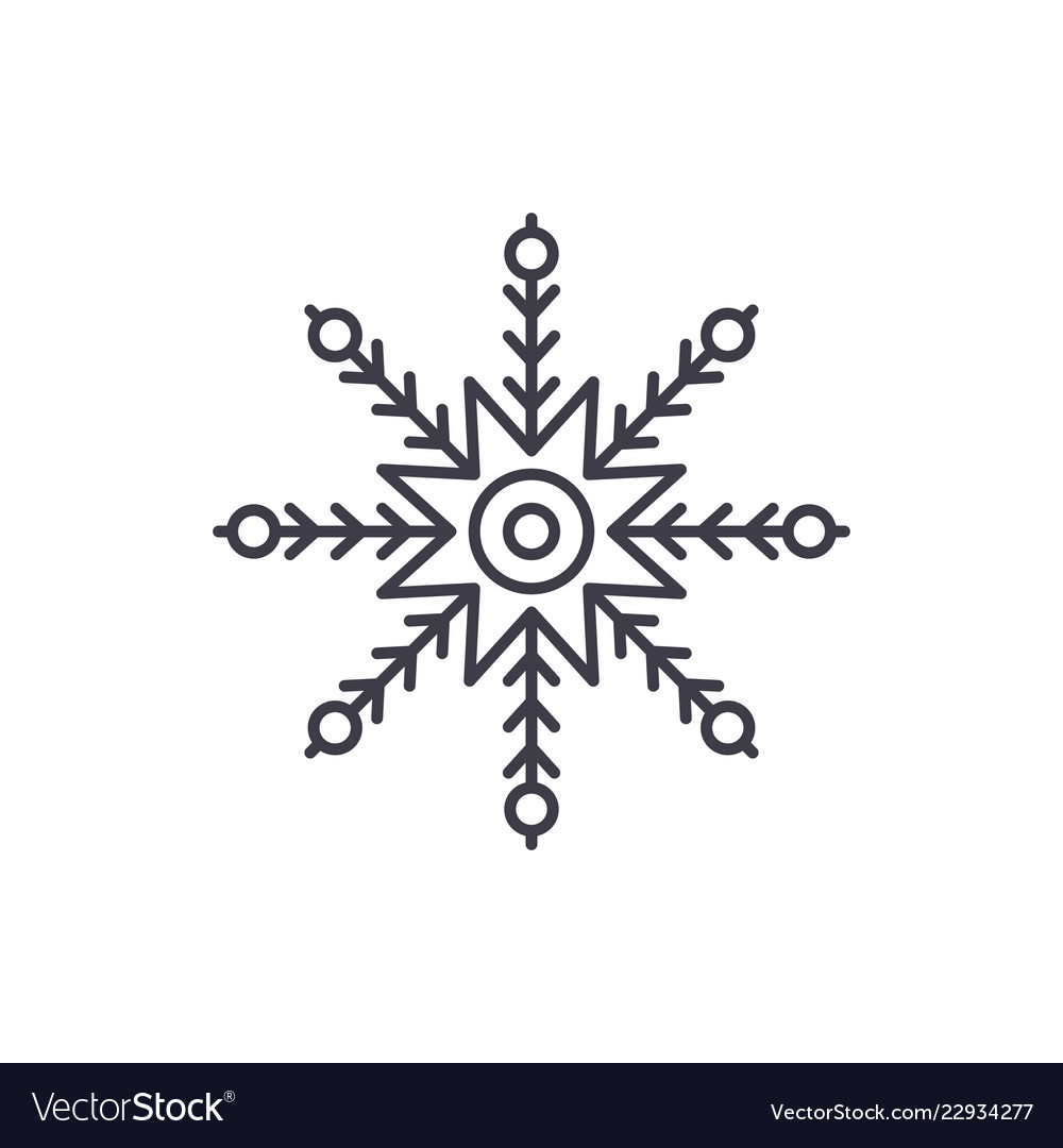 Creative snowflake line icon concept creative