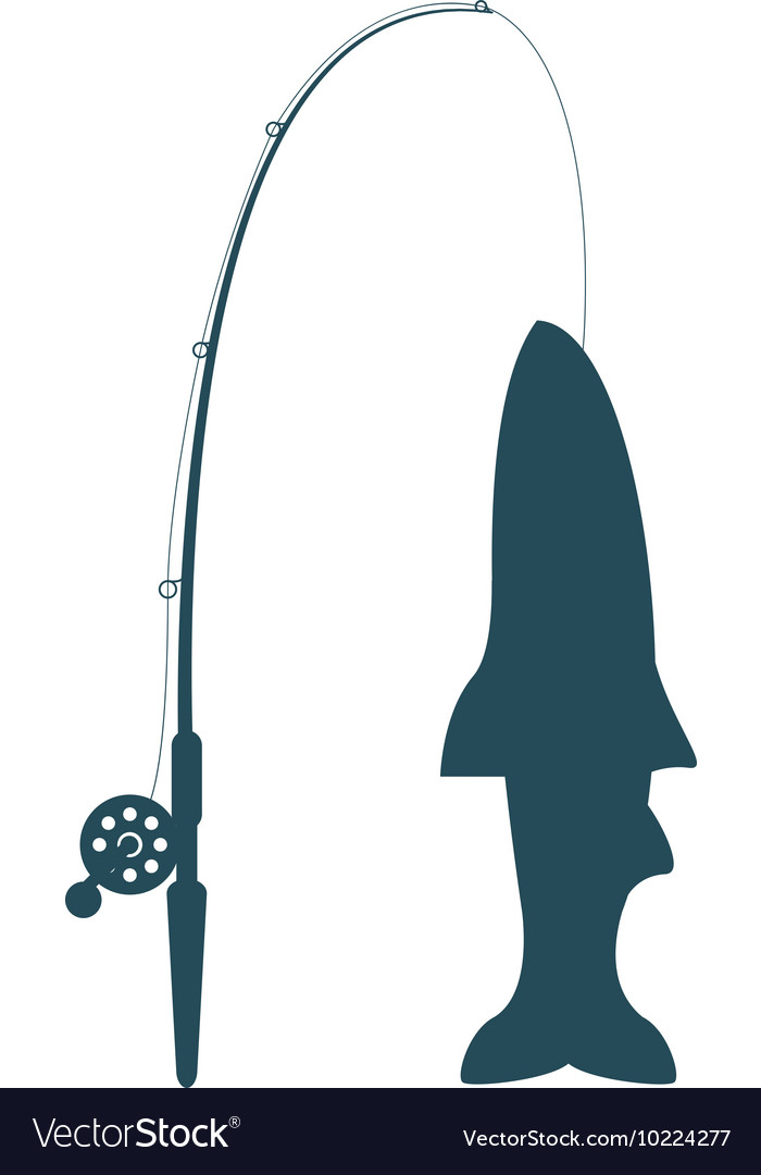 Fishing rod and rod icon vector image