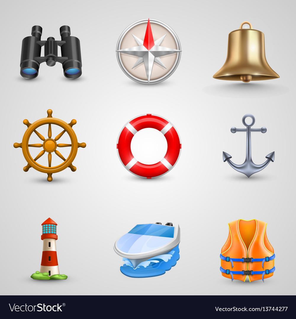 Marine set icons