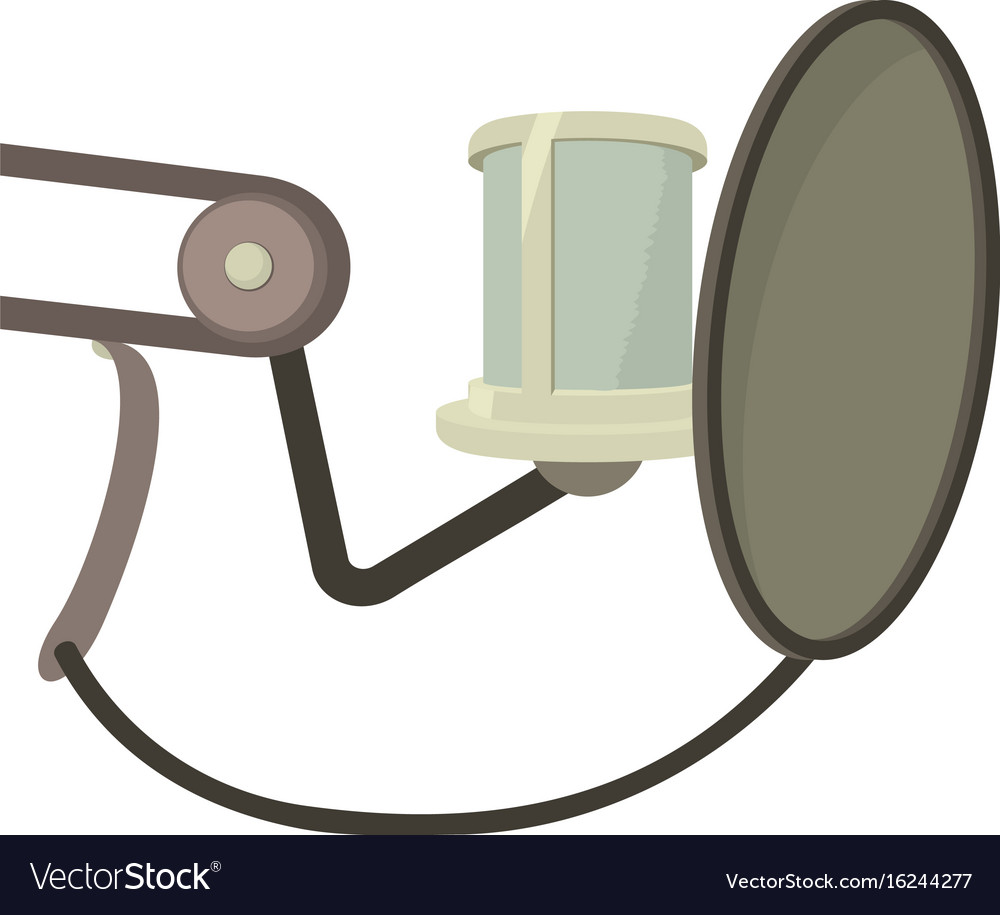 Professional microphone icon cartoon style vector image