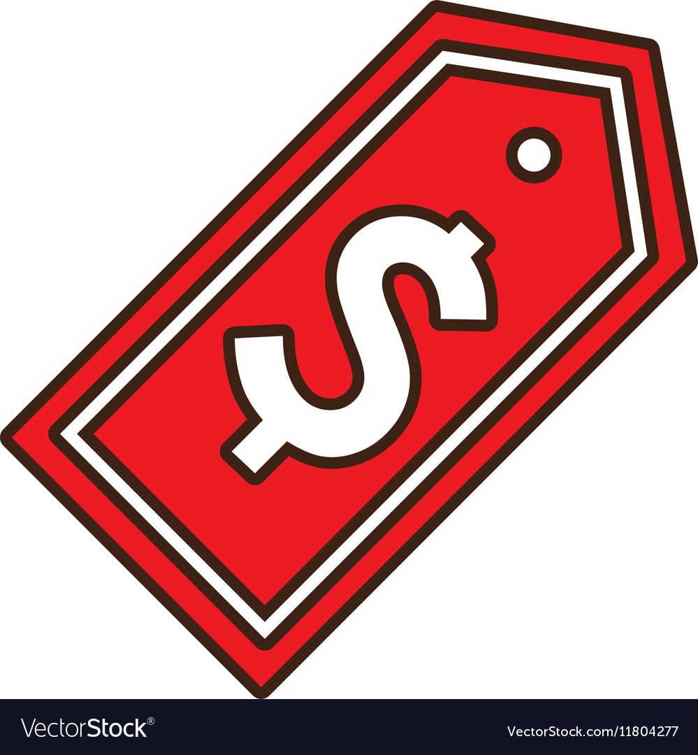 Red sticker tag price symbol icon vector image