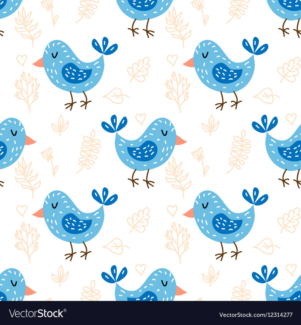 Seamless pattern with cute owls