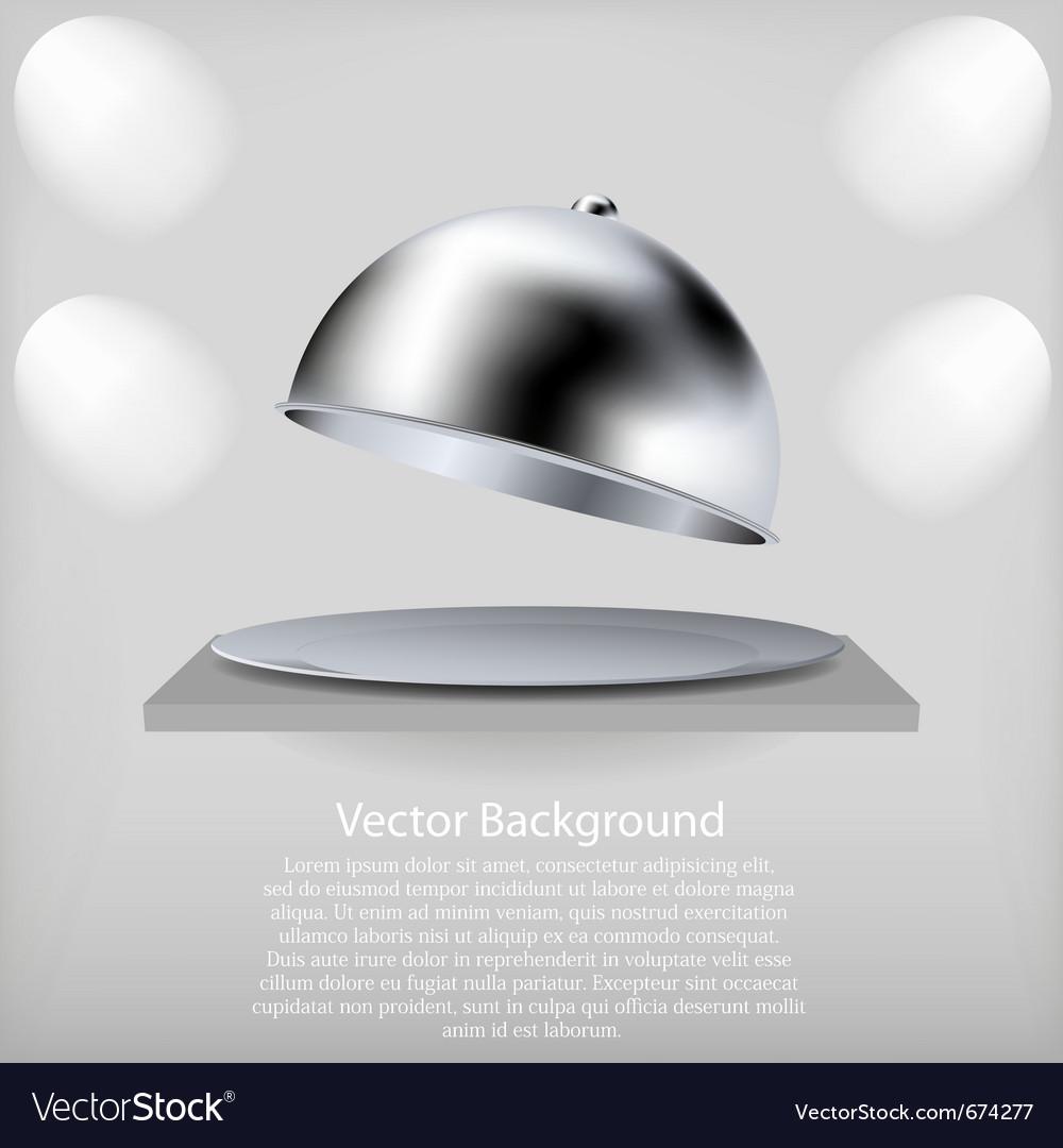 Serving platter vector image