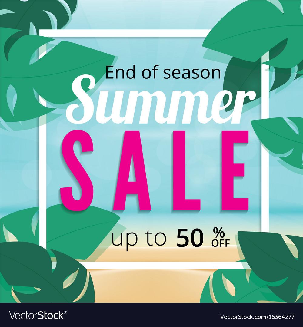 ddf6597f495 Summer sale discount end of season banner Vector Image