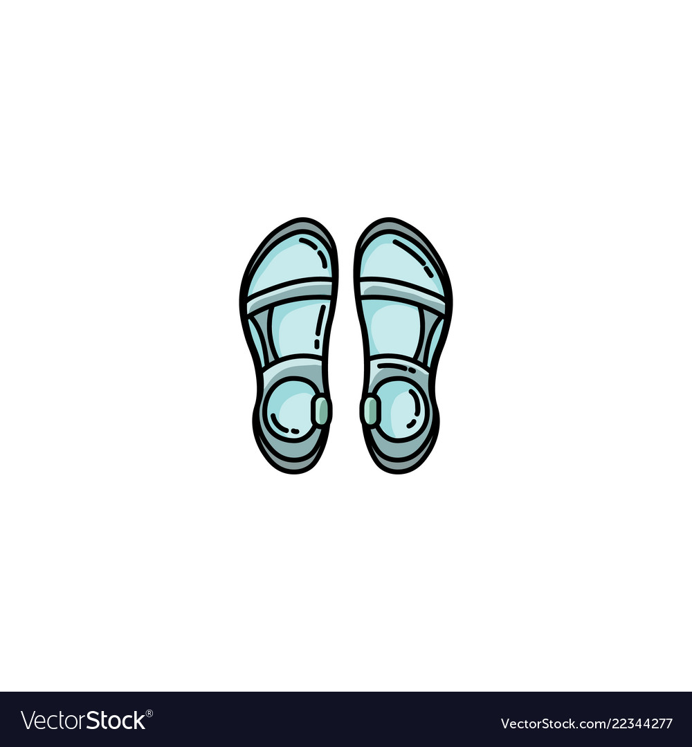cb00b27d29a3 Trekking sandals flat icon Royalty Free Vector Image