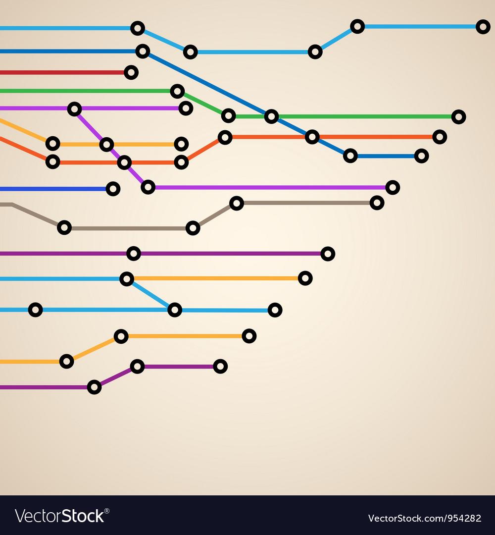 Abstract subway map eps10 vector image
