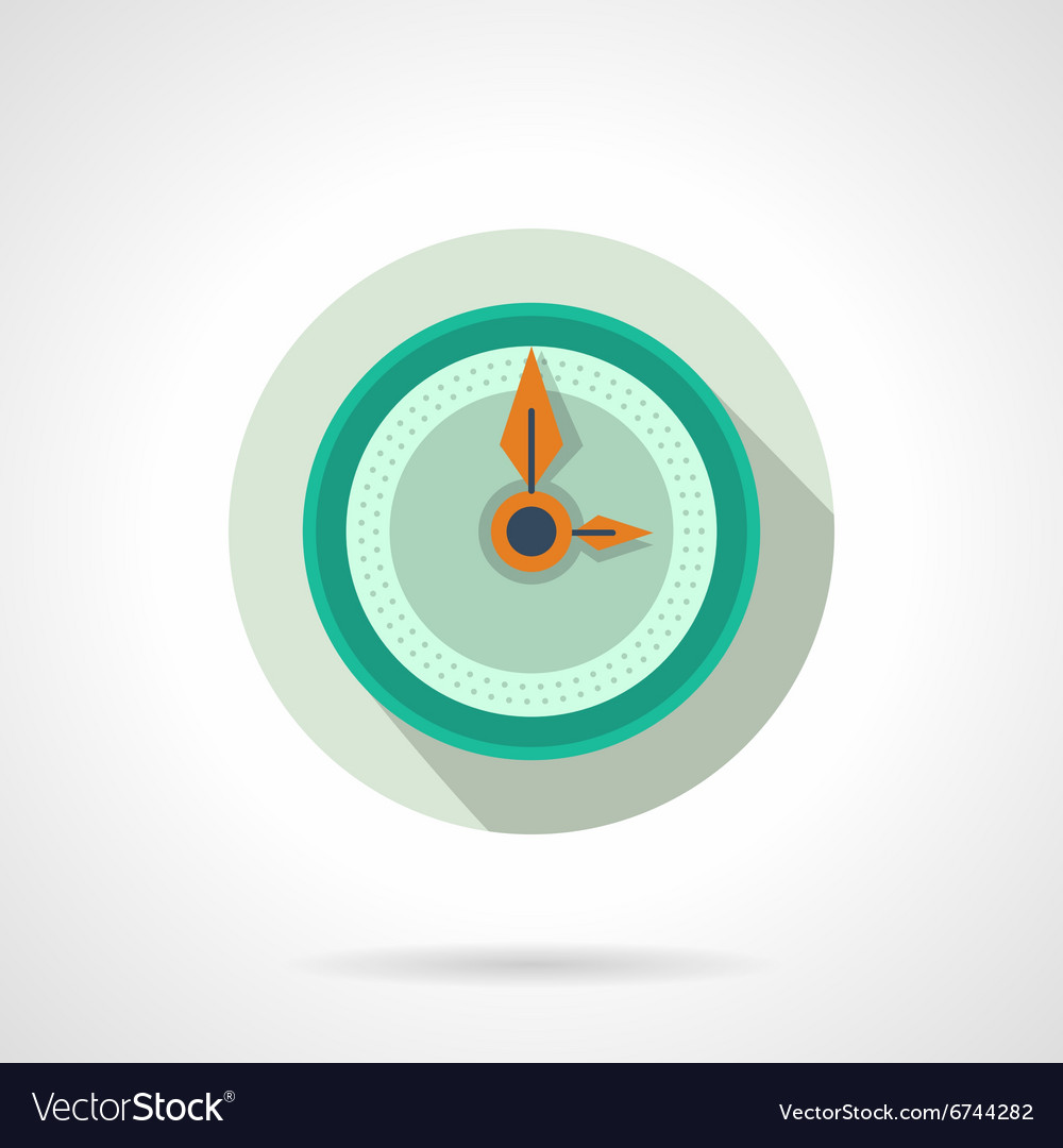 Flat color wall clock icon