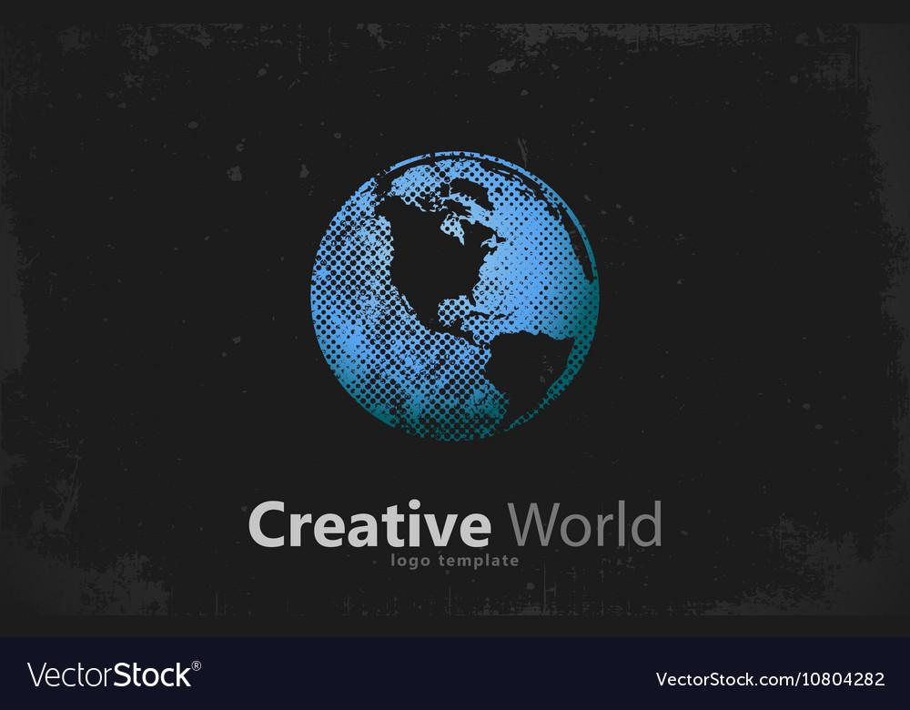 Globe logo Creative world design Creative logo