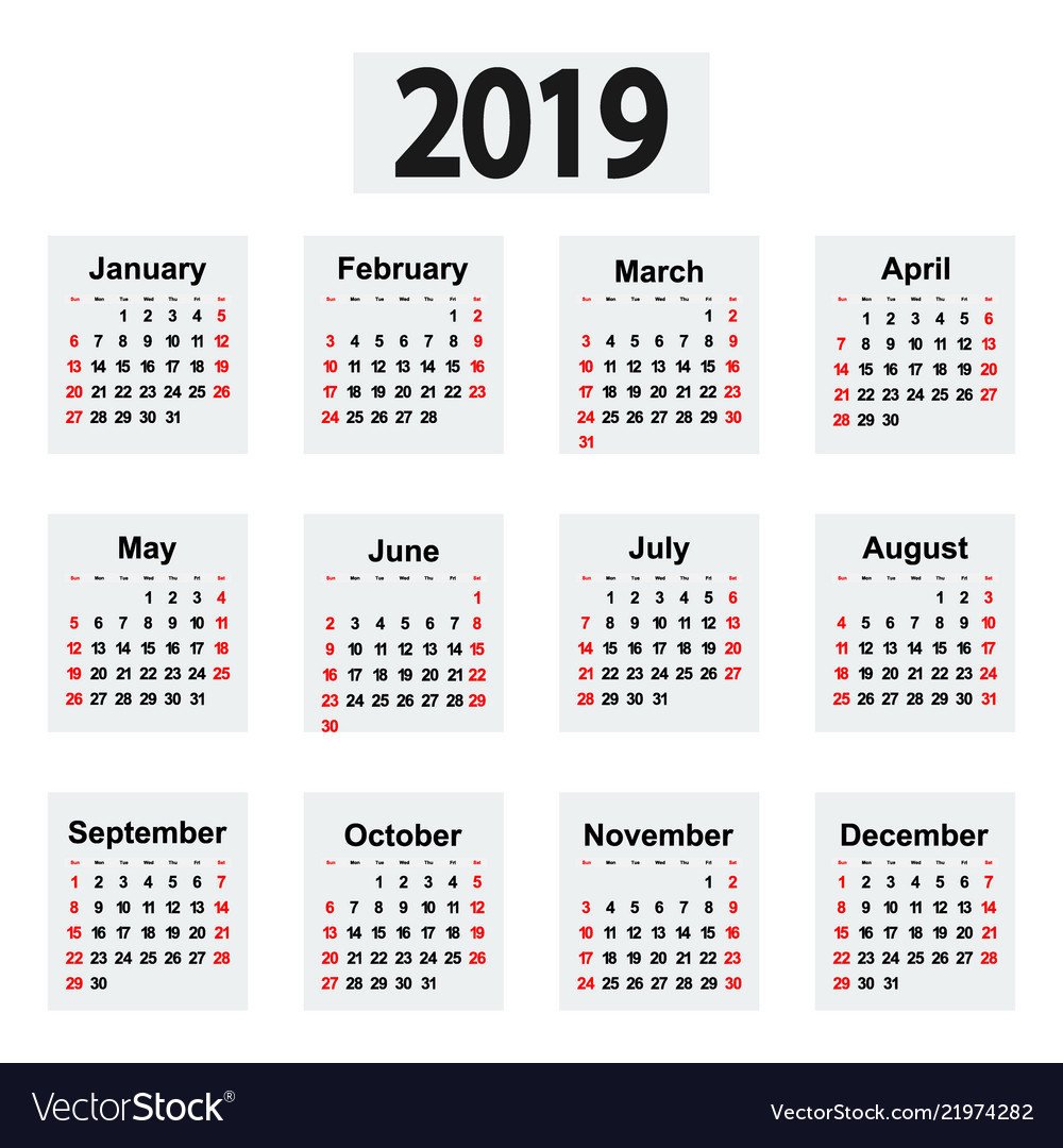 Great new wall calendar 2019