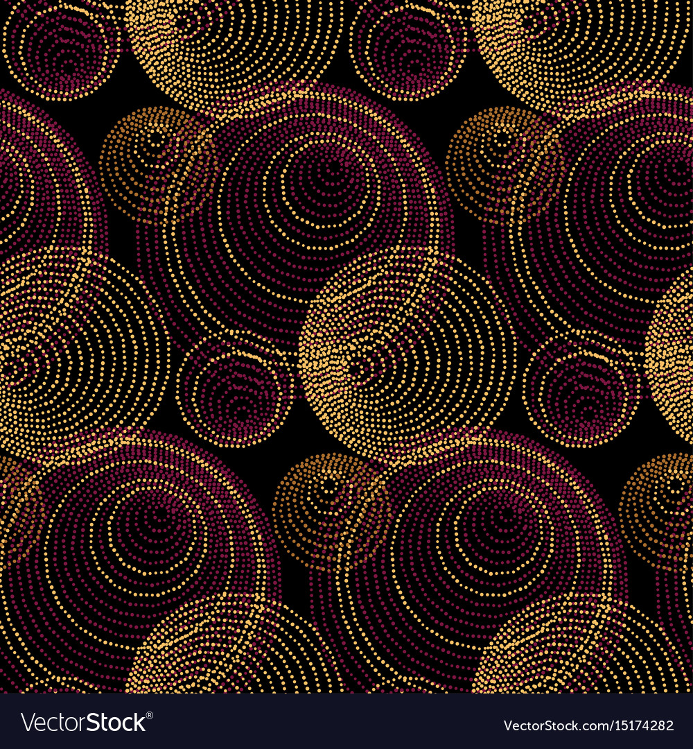 Luxury gold print with geometry pattern vector image