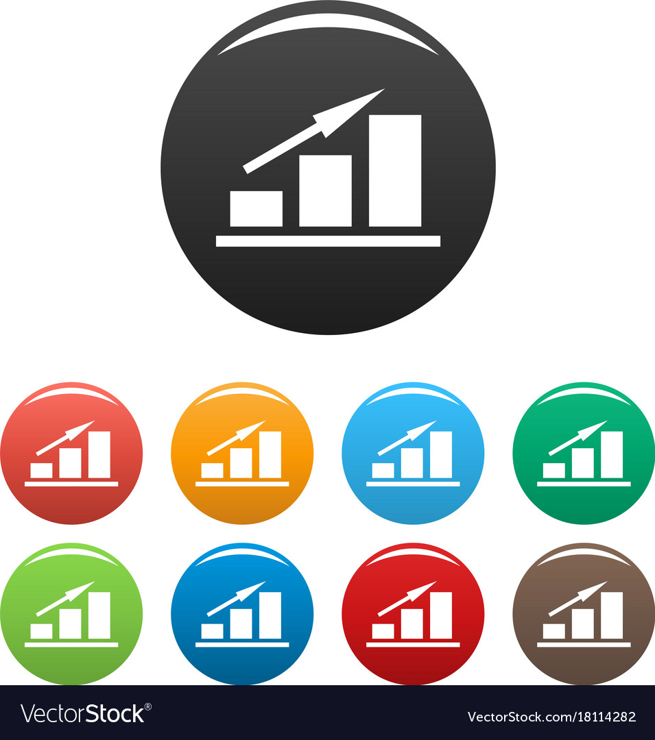 New chart icons set simple vector image