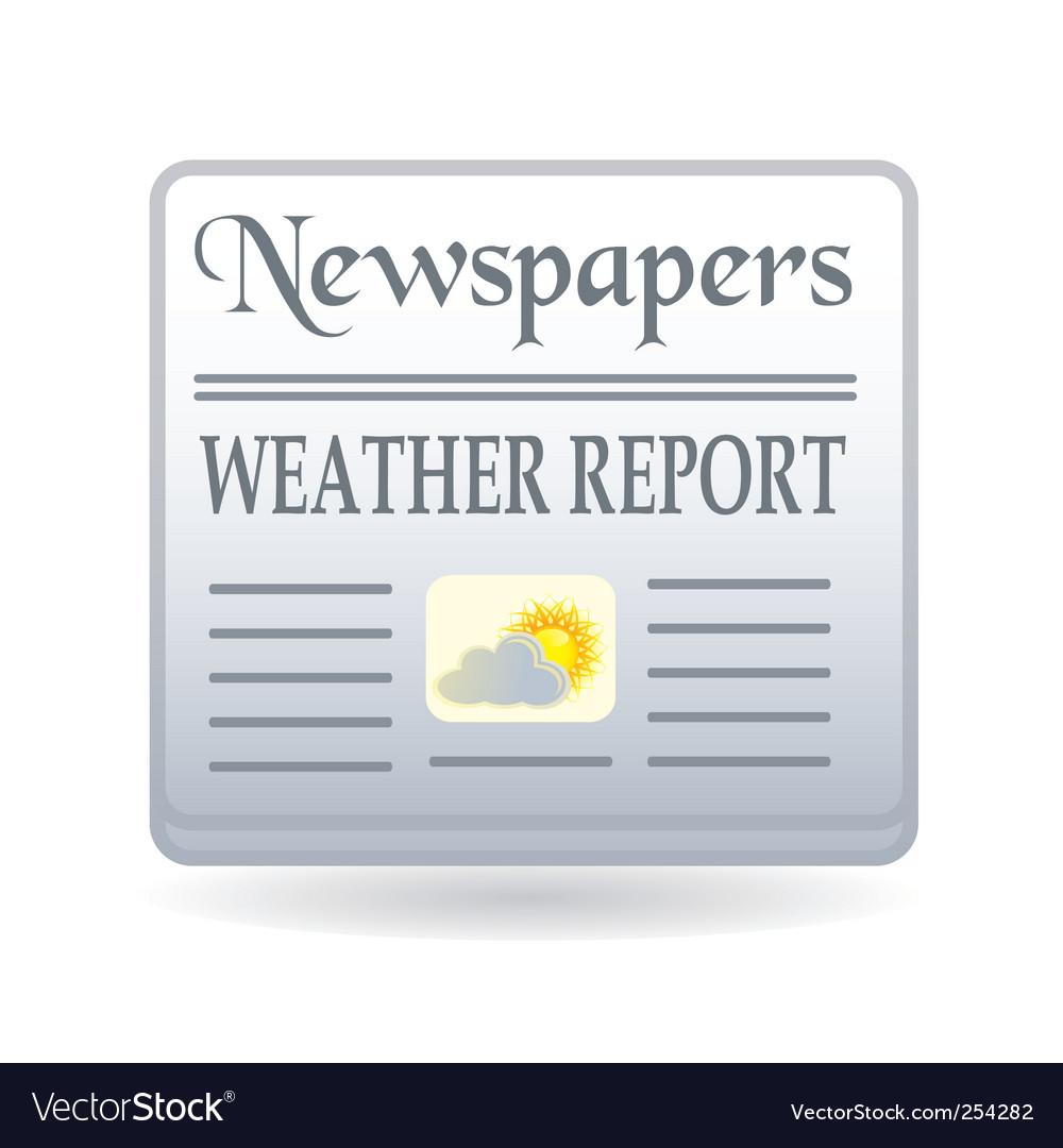 Newspaper weather report