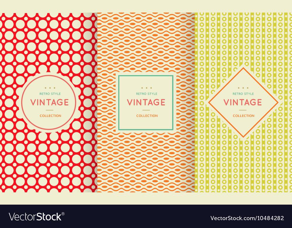 Retro vintage seamless pattern vector image