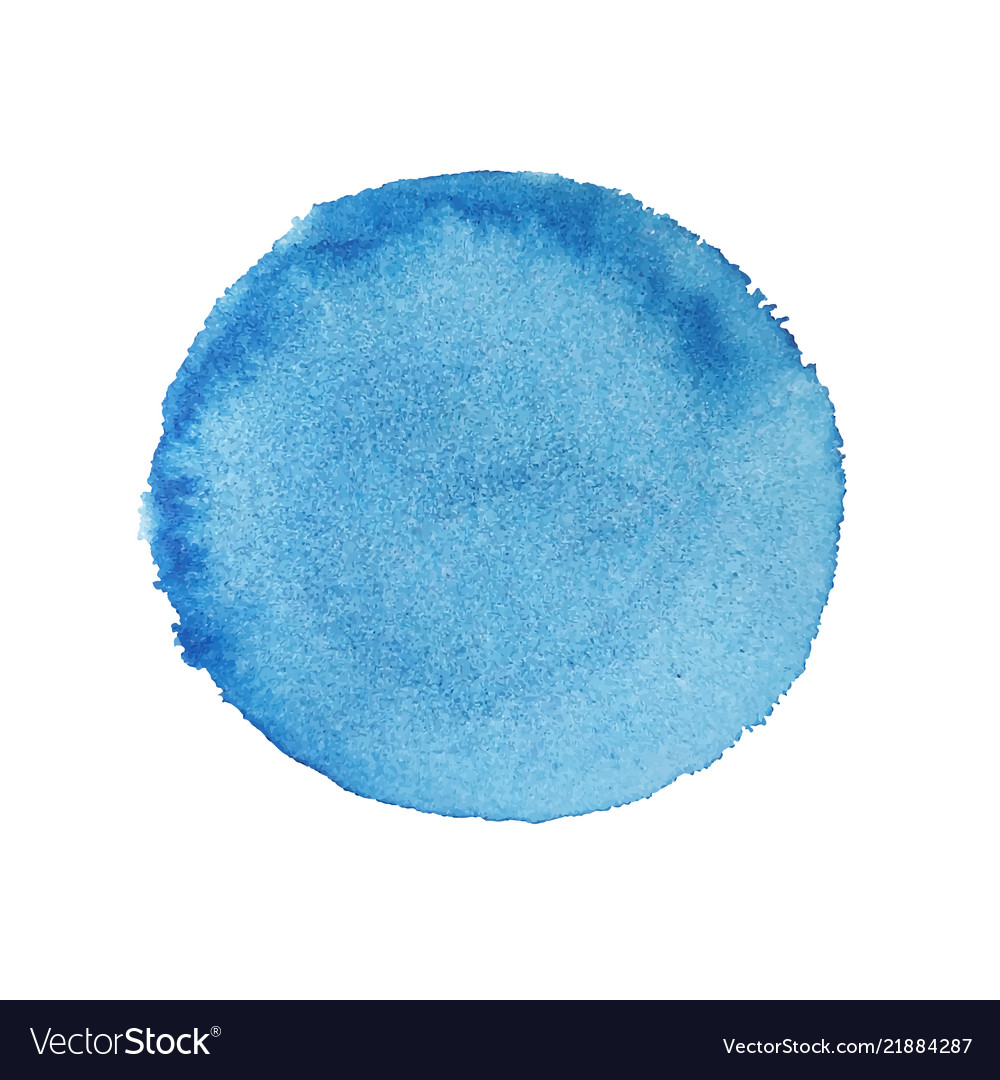 Abstract watercolor blue round background