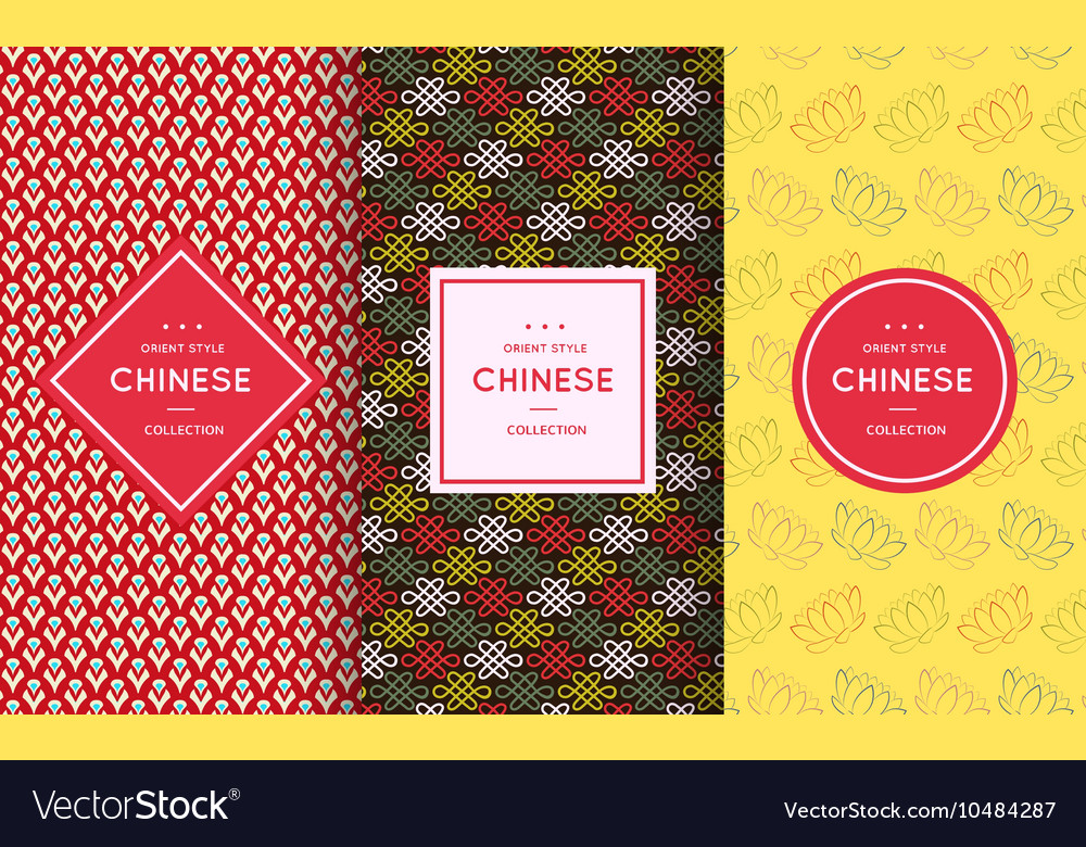 Asian retro pattern background vector image