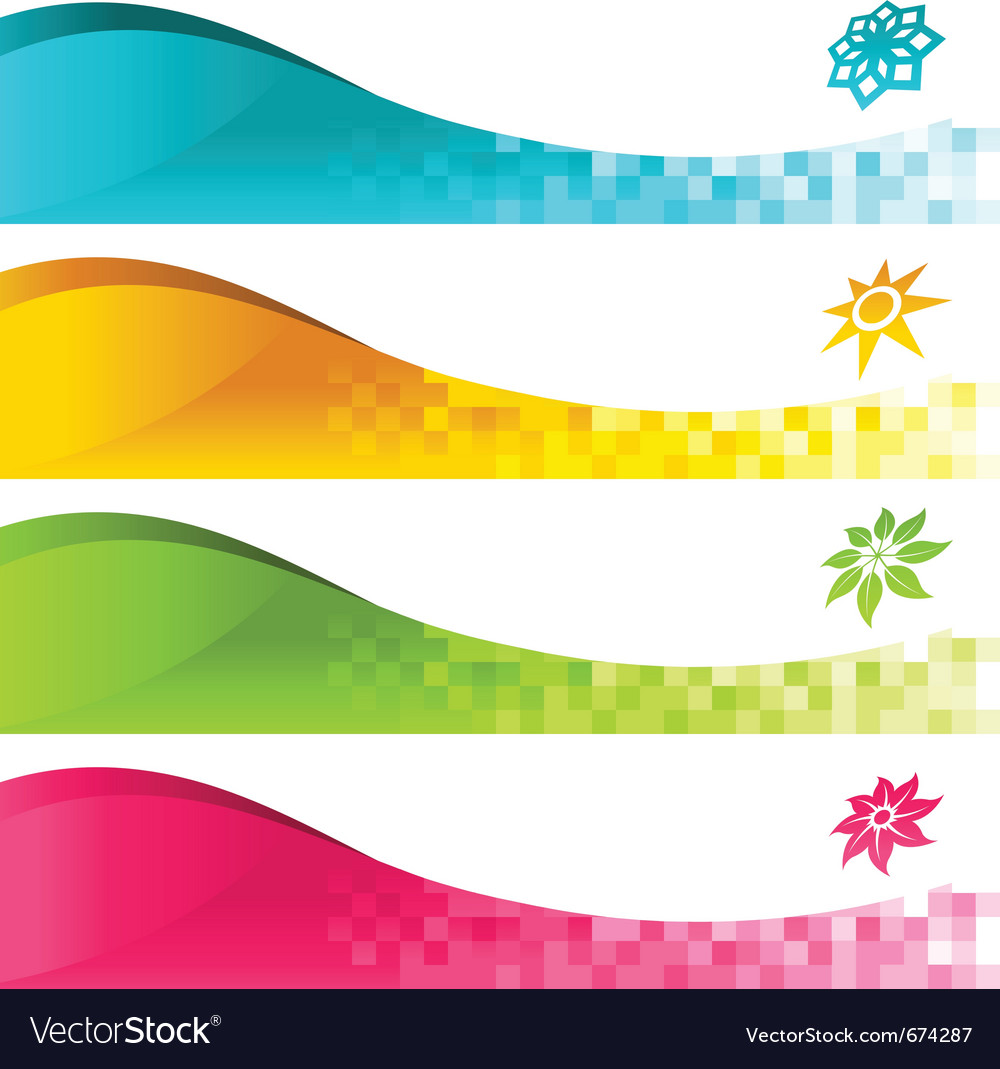 colorful banner with icons royalty free vector image