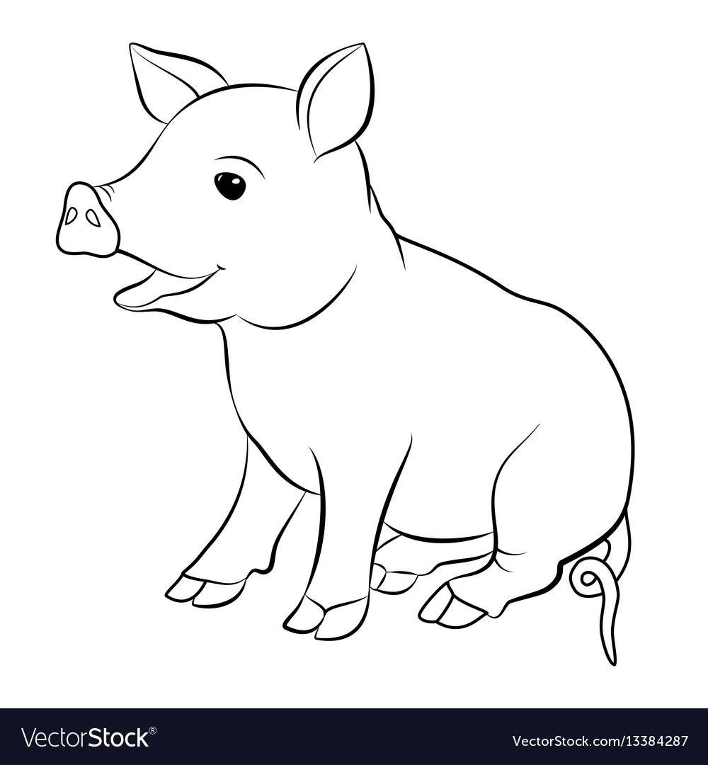 Cute pig cartoon eps 10