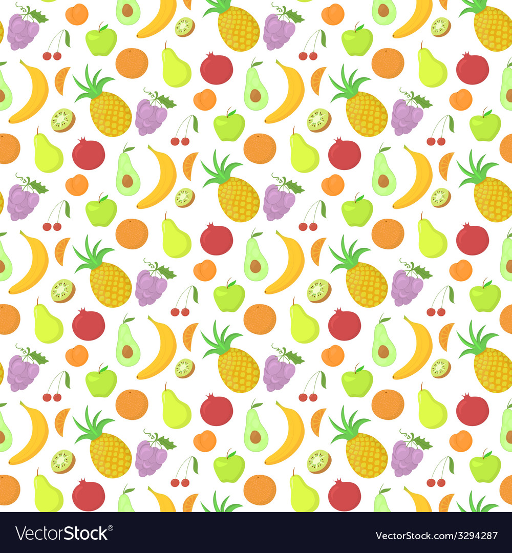 Fruit seamless pattern background with great