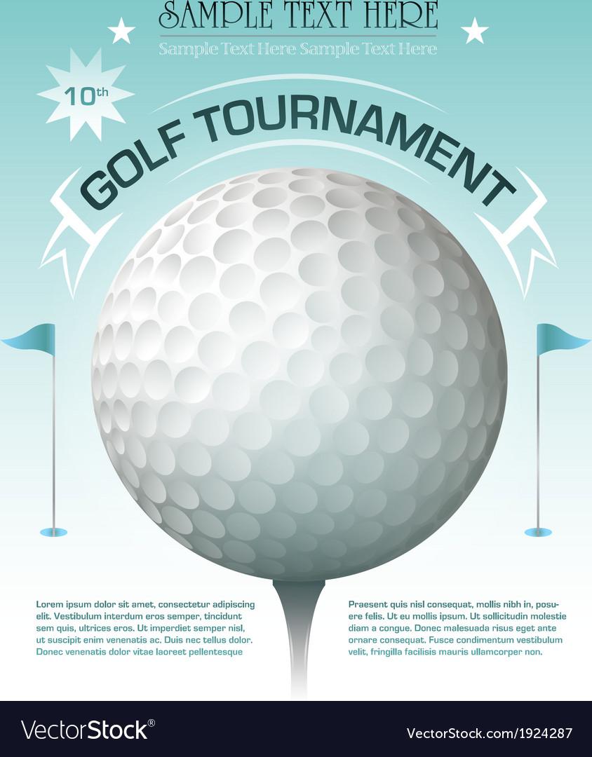 Golf tournament invitation banner background vector image stopboris Choice Image