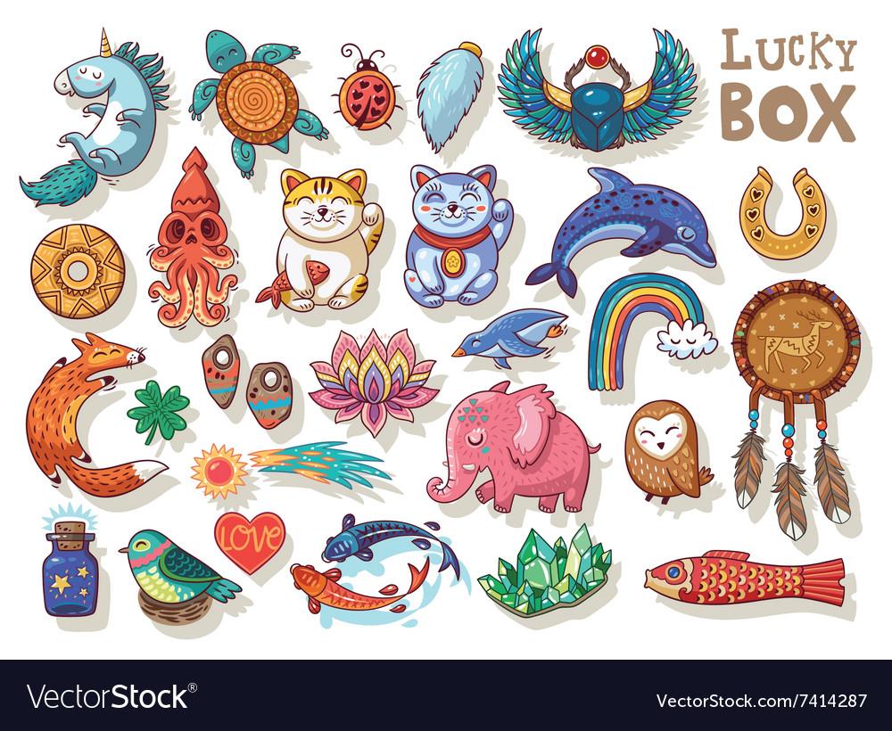 Good Luck Symbols Royalty Free Vector Image