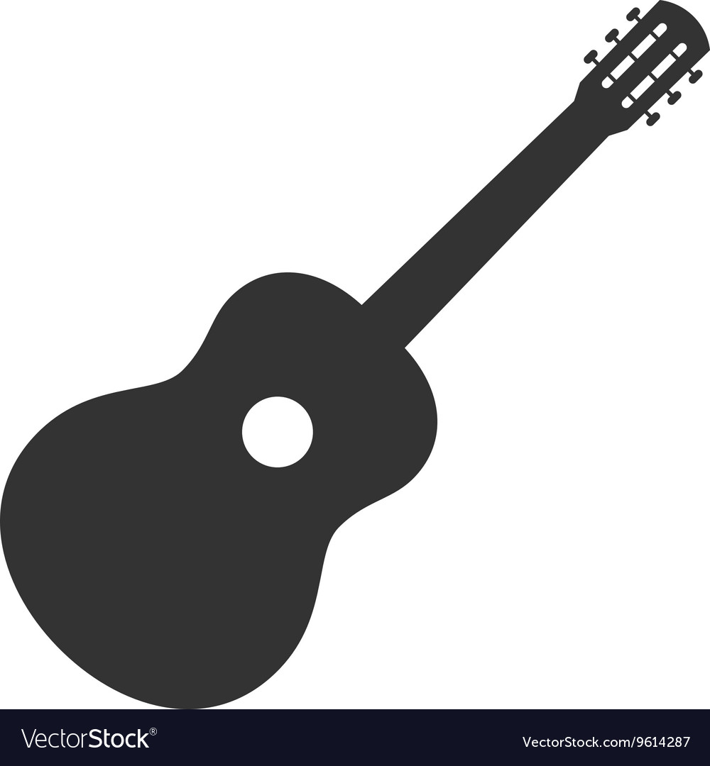 guitar icon symbol sign guitar logo template vector image