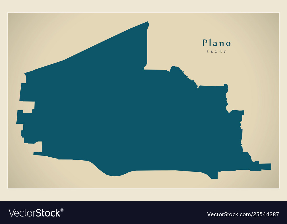 Map Of Texas City.Modern Map Plano Texas City Of The Usa Vector Image