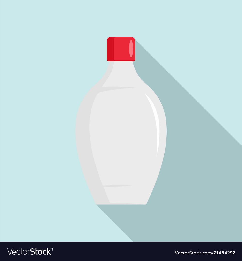 Baby shower bottle icon flat style