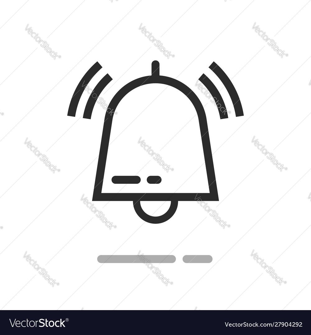 Bell or handbell ringing symbol icon line
