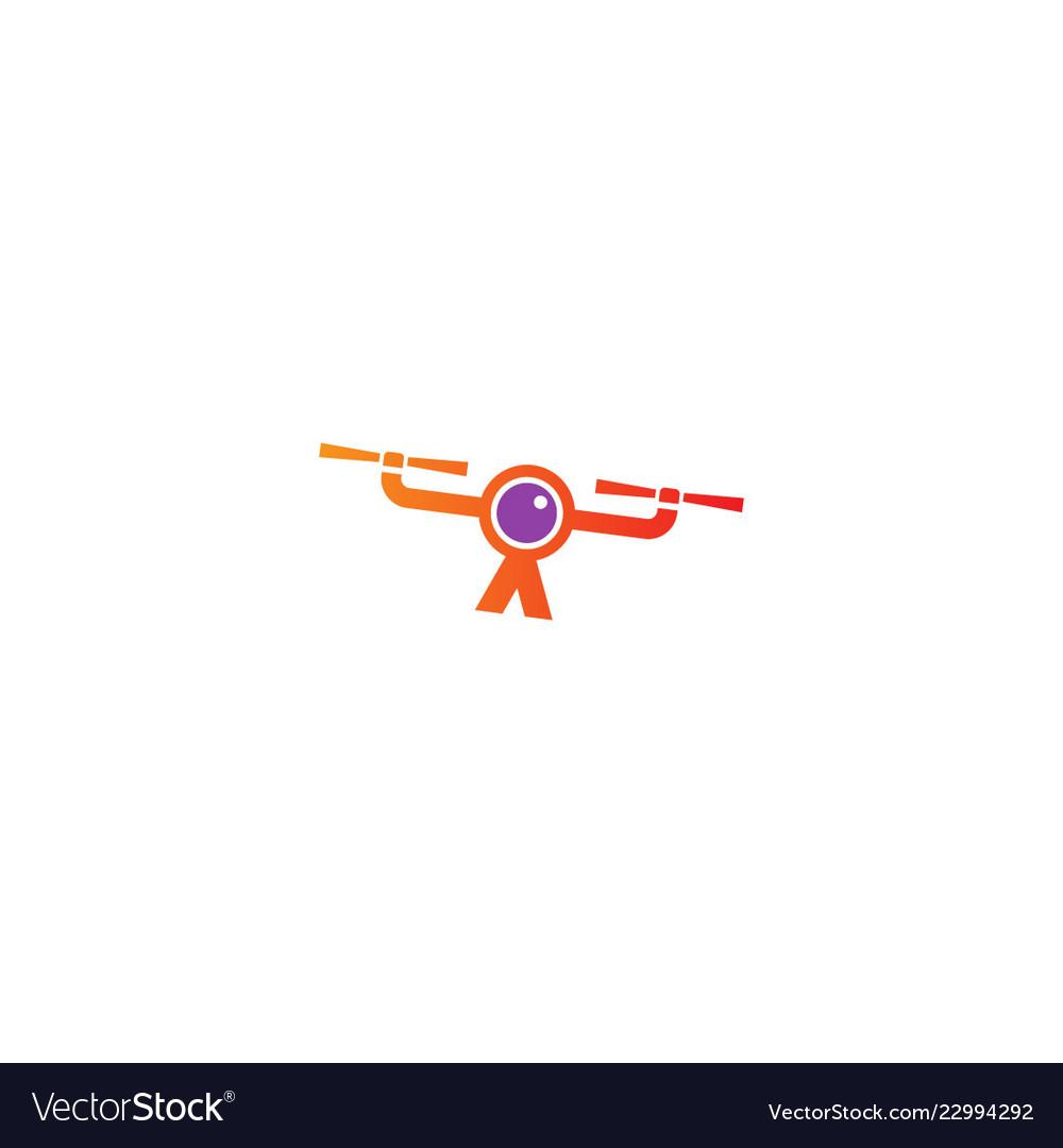 Drone fly camera logo