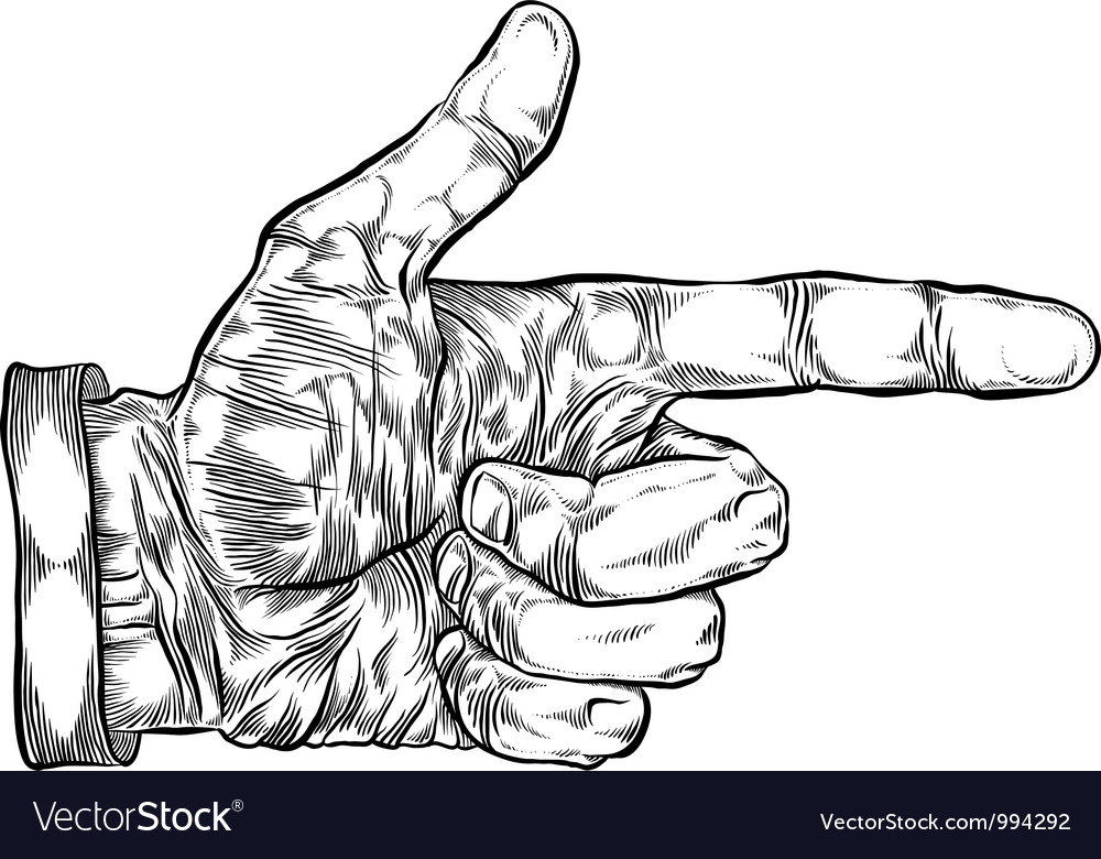 Finger pointing hand