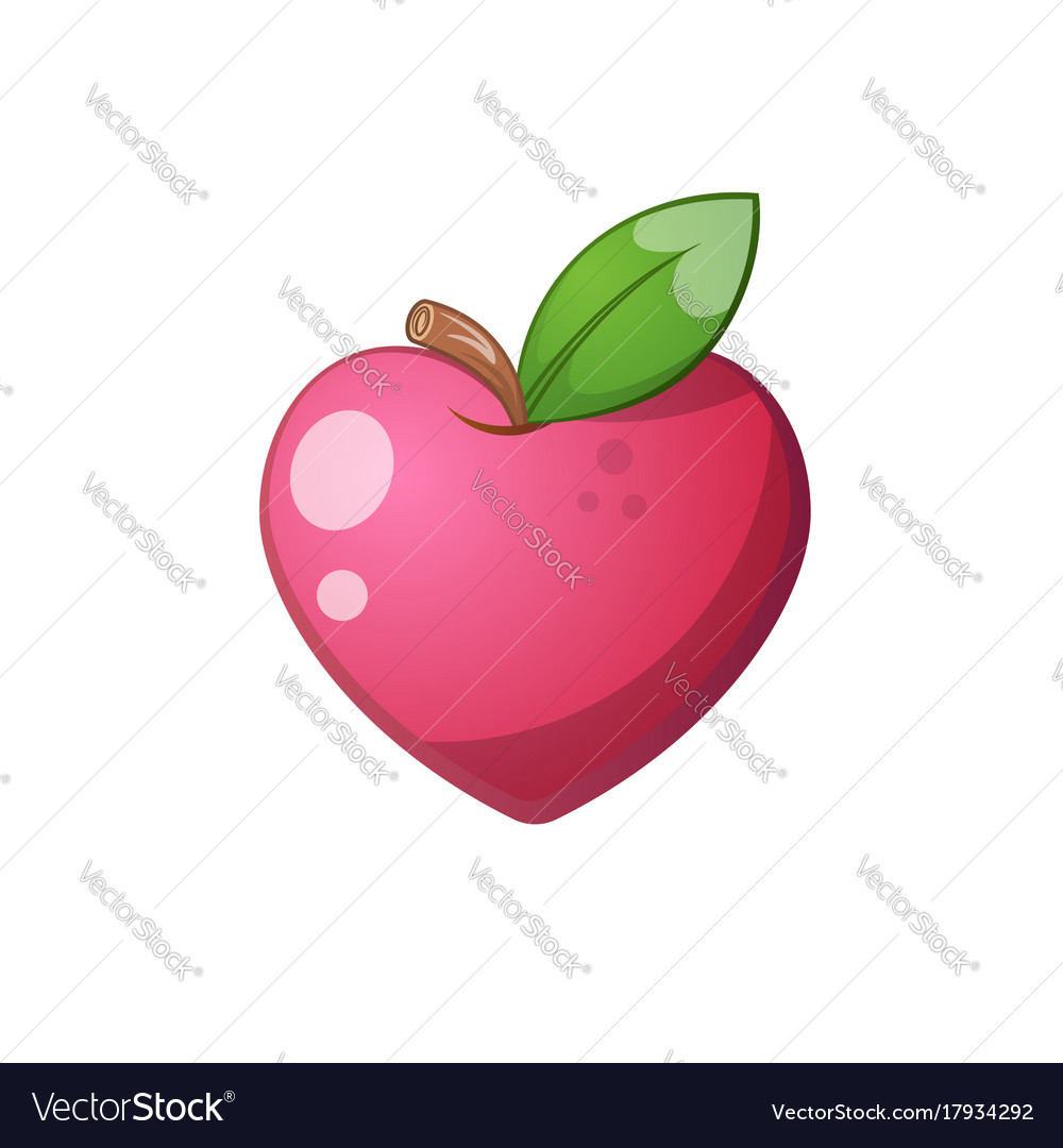 Heart fruit icon cartoon