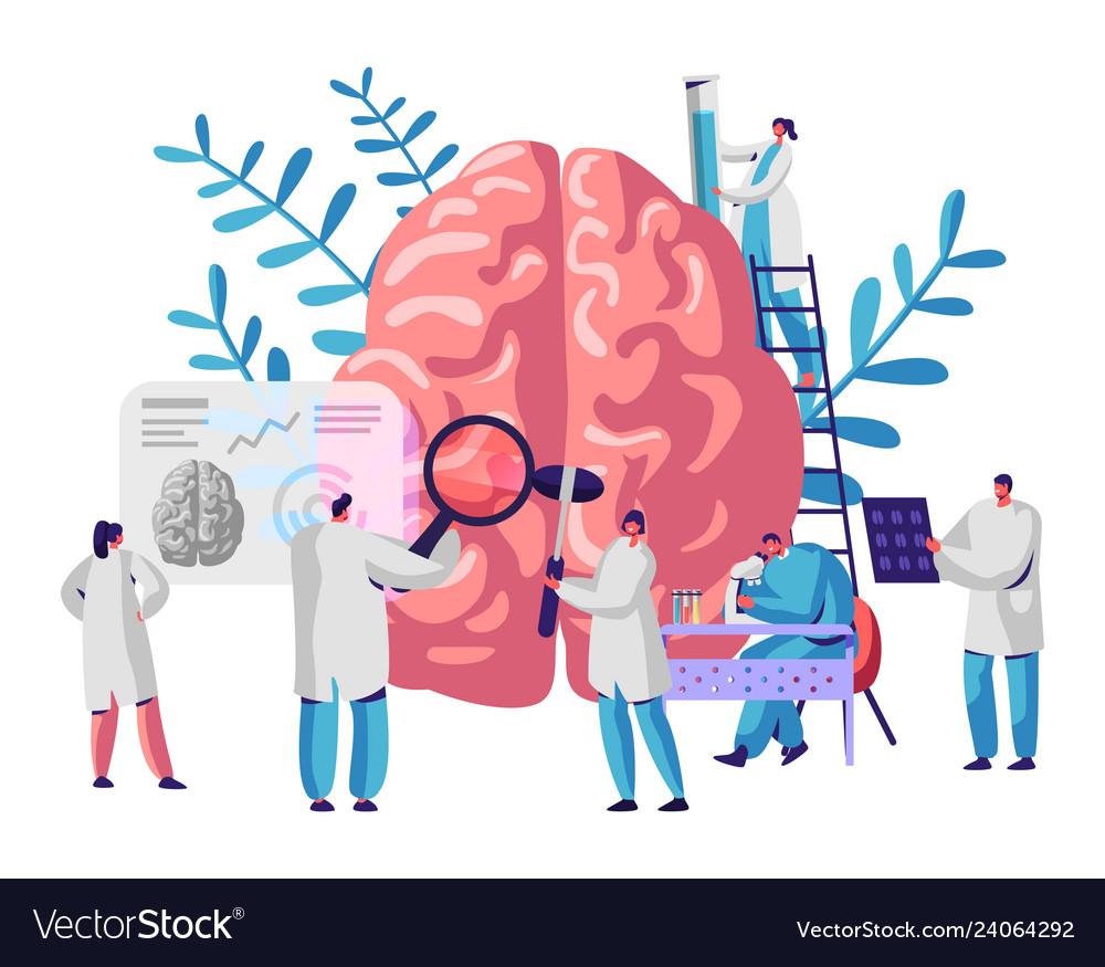 Laboratory scientist group study human brain