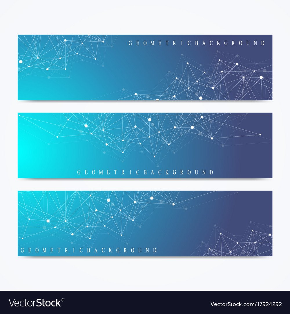 Modern set of banners geometric abstract
