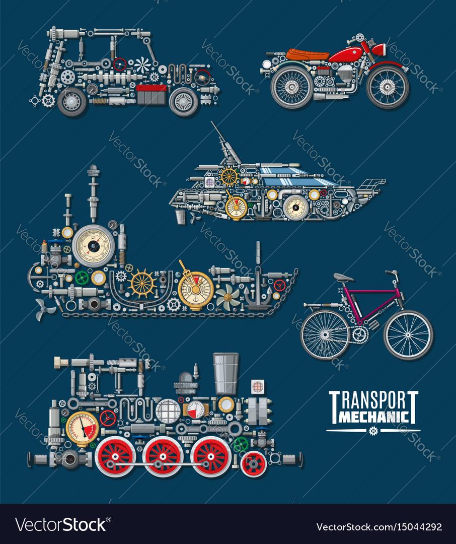 Transport vehicles mechanics and mechanisms