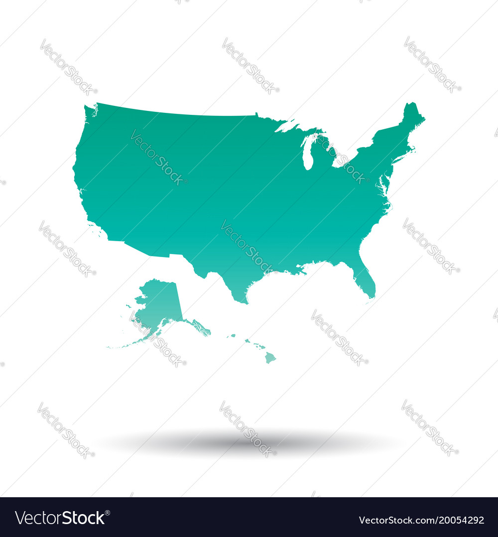 Usa united states of america map colorful